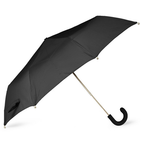 Alexander McQueen Silver Skull-Tipped Collapsible Umbrella