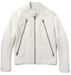 Maison Martin Margiela Slim-Fit Leather Biker Jacket