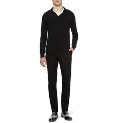 Maison Martin Margiela Open-Neck Cotton-Blend Sweater