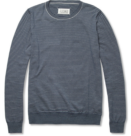 Maison Martin Margiela Striped Knitted Cotton Sweater