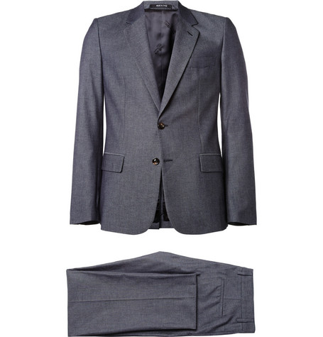 Maison Martin Margiela Blue Denim-Effect Cotton Suit