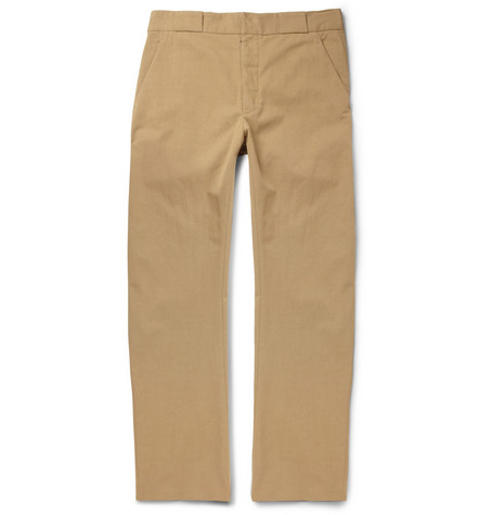 Maison Martin Margiela Straight-Leg Cotton-Blend Twill Trousers