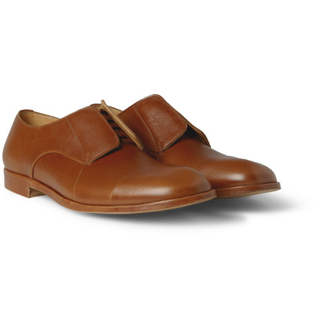 Maison Martin Margiela Concealed-Lace Up Leather Derby Shoes