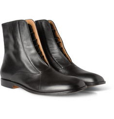 Maison Martin Margiela Concealed-Lace Up Leather Boots