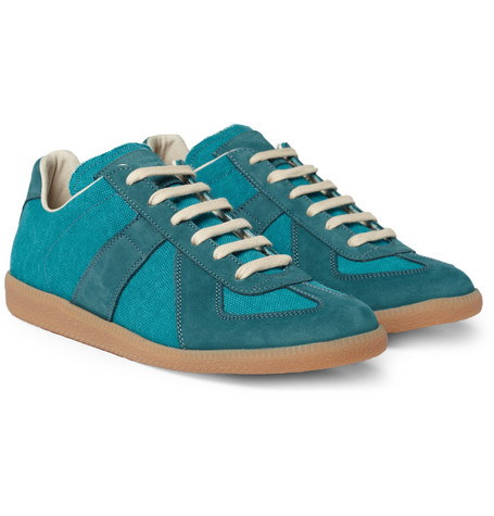 Maison Martin Margiela Replica Suede and Canvas Sneakers