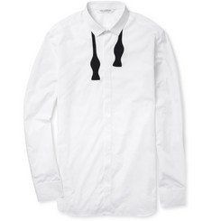 Neil Barrett Bow Tie-Patterned Slim-Fit Cotton Shirt