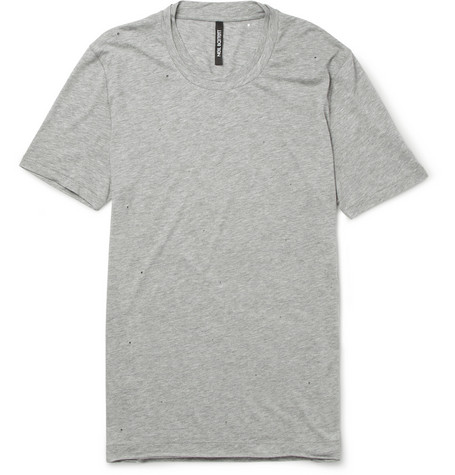 Neil Barrett Distressed Jersey T-Shirt
