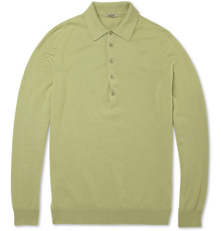Bottega Veneta Knitted Cashmere Polo Shirt