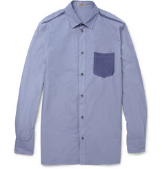 Bottega Veneta Contrast-Pocket Cotton-Poplin Shirt