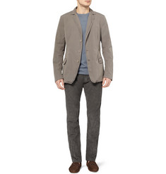 Bottega Veneta Unstructured Slim-Fit Washed-Cotton Blazer