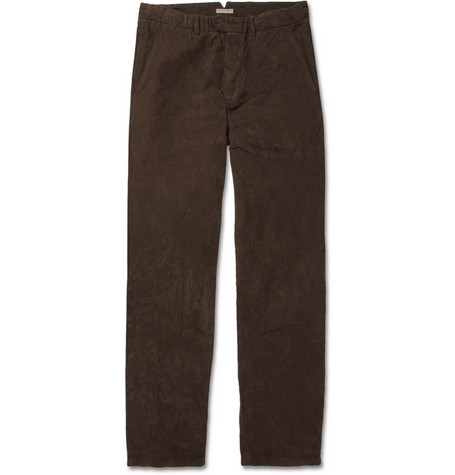 Bottega Veneta Straight-Leg Cotton-Corduroy Trousers