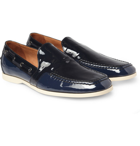 Bottega Veneta Patent-Leather Loafers