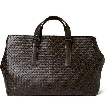 Bottega Veneta Intrecciato Leather Holdall Bag