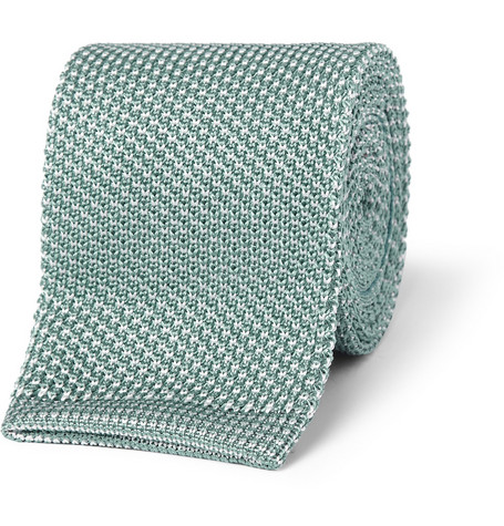 Brioni Flecked Knitted Silk Tie