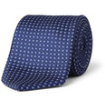 Brioni Embroidered Woven-Silk Tie