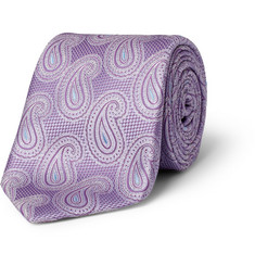 Brioni Paisley-Patterned Silk Tie