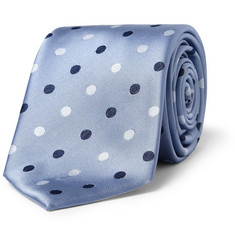 Brioni Spot-Embroidered Silk-Satin Tie