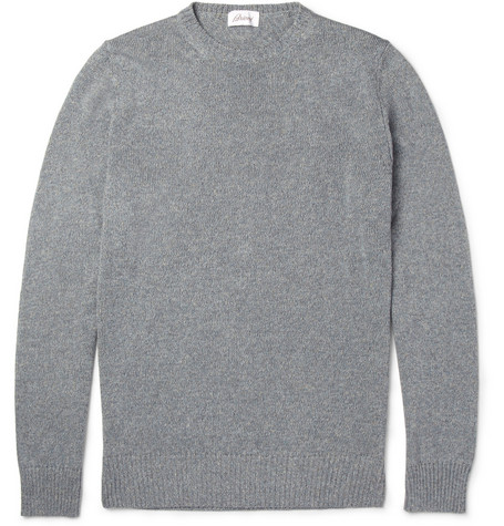 Brioni Cotton and Linen-Blend Sweater
