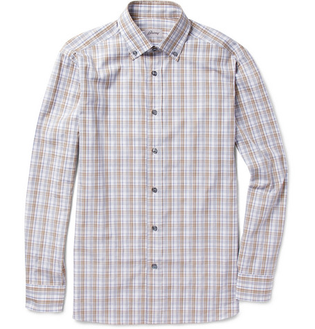 Brioni Check Cotton Shirt