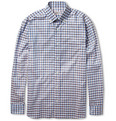 Brioni Gingham Check Cotton Shirt