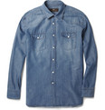 Brioni - Silk and Cotton-Blend Denim Shirt