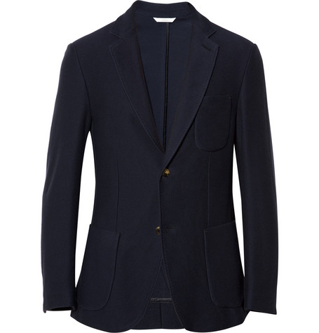 Brioni Unstructured Knitted-Twill Blazer