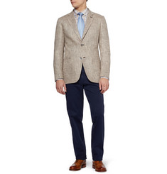 Brioni Slim-Fit Slub Silk and Linen-Blend Blazer
