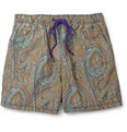 Etro Medium-Length Paisley-Print Swim Shorts