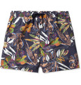 Etro - Mid-Length Flower-Print Swim Shorts