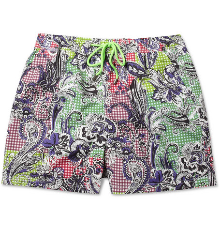 Etro Mid-Length Printed Swim Shorts