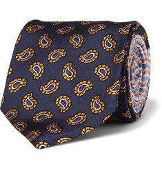 Etro Patterned Woven-Silk Tie