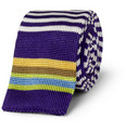 Etro - Striped Knitted Silk Tie