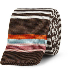 Etro Striped Knitted Silk Tie