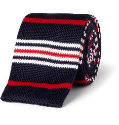 Etro Striped Knitted Cotton Tie