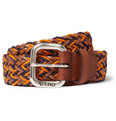 Etro - Woven-Leather and Cotton Belt