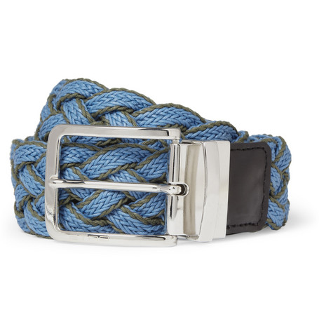 Etro Reversible Woven-Cotton Belt