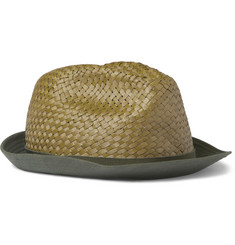 Etro Cotton-Brimmed Woven-Palm Fedora