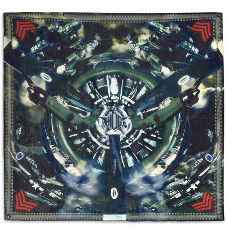 Givenchy Airplane-Print Cotton-Blend Scarf