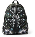 Givenchy - Airplane-Print Leather-Trimmed Backpack
