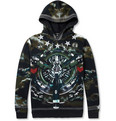 Givenchy - Airplane-Print Loopback Cotton-Jersey Hoodie