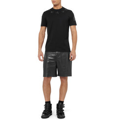 Givenchy Leather and Jersey Shorts