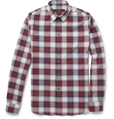 Givenchy Slim-Fit Plaid Cotton Shirt