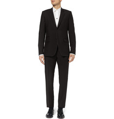 Givenchy Black Slim-Fit Wool and Mohair-Blend Suit