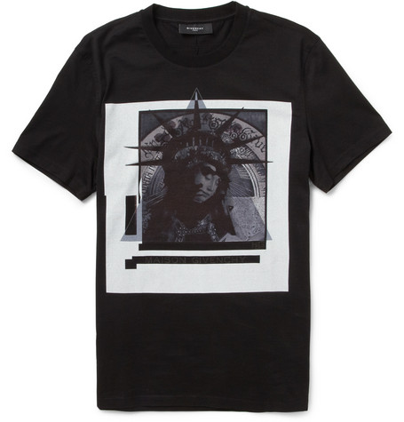 Givenchy Statue Of Liberty-Print Cotton-Jersey T-Shirt