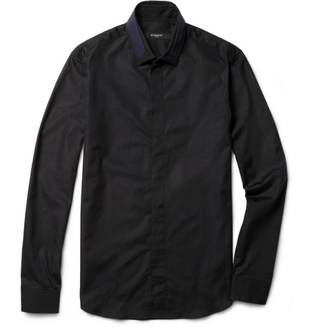 Givenchy Slim-Fit Collar-Insert Cotton Shirt