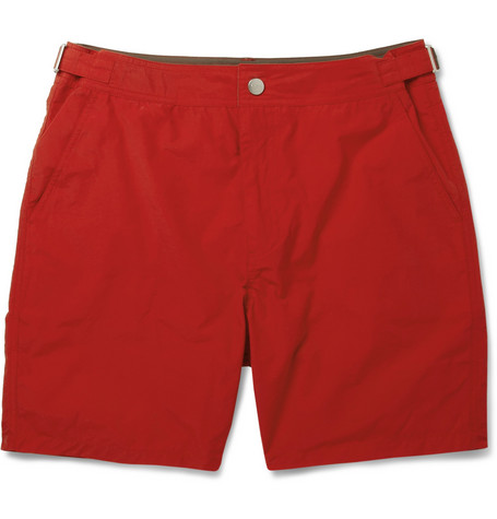 Paul Smith Shoes & Accessories Mid-Length Cotton-Blend Swim Shorts