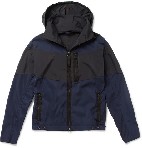 Lanvin Two-Tone Hooded Lightweight Jacket