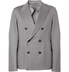 Lanvin Double-Breasted Cotton-Jersey Blazer