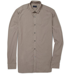 Lanvin Slim-Fit Contrast-Collar Cotton Shirt