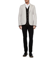 Lanvin Unstructured Slim-Fit Cotton-Piqué Blazer